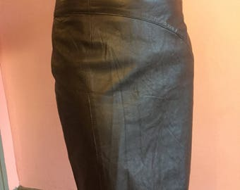 80'sForenza Italian leather Pencil Skirt