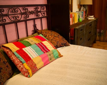 Reversible Patchwork Pillowcase
