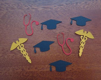 Medical Graduation Confetti | Party | Nurse | RN | Doctor | Dr | DO | PA | Physician Assistant | Stethoscope | Caduceus | School