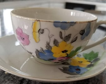 Floral Cup and Saucer