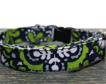 Paisley Cat Collars, Green Cat Collar, Pet Supplies, Cat Collar, Breakaway Cat Collar, Kitty Collars, Green Paisley Cat Collar, Safe Collar