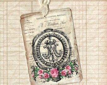 Tags, French Style Tags, Marie Antionette, Floral Tags