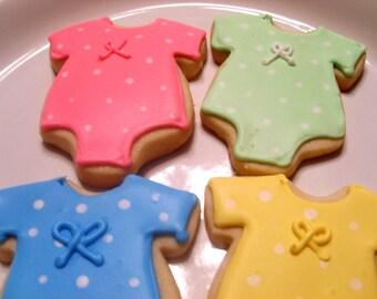 Cookie de body en coton à pois bébé (36 cookies)