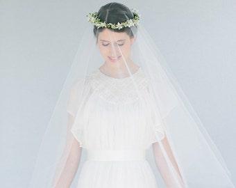 Bridal veil boho wedding waltz length  - Rosalie