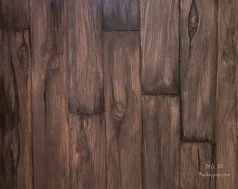 Food Styling Background - Brown Timber - 008