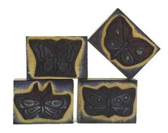 Butterfly Rubber Stamp Set.