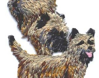 Embroidered CAIRN TERRIER Dog Breed Iron-on/Sew on Patch Badge Applique DIY