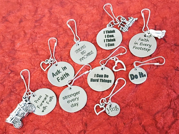 Gifts for LDS Young Women, LDS Young Men Theme Zipper Pulls, yw ym Theme, lds Jewelry, New Beginnings Mutual Gifts, Girls Camp Charms Crafts