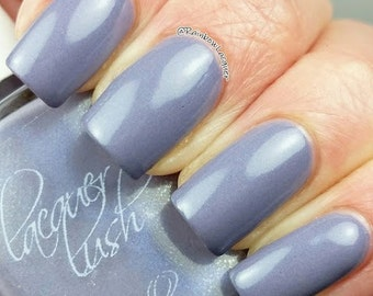 """shimmer nail lacquer: """"lilac gray"""""""