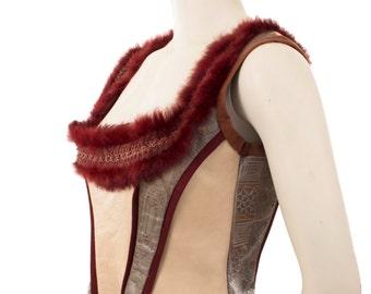 Corset/ Bodice/ Leather Bodice/ Leather Corset/Genuine Leather Corset/Genuine Leather Bodice/Designer Corset/Designer Bodice/Festival corset