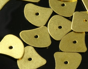 150 Pcs Raw Brass 11x13 mm disc tag Charms ,Findings 562R-58
