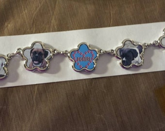 5 picture custom bracelet, stainless steel