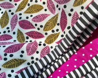 Modern Pink Wholecloth Crib Quilt