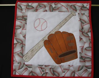 Baseball Quilted Wall Hanging