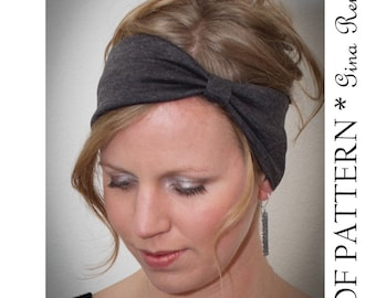 Headband Sewing Pattern. Ear Warmer Pattern - PDF Sewing pattern