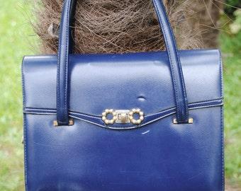Blue navy bag 1960s