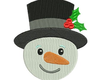 Frosty Snowman Snow Man Christmas Machine Embroidery Designs 4x4 & 5x7 Instant Download Sale