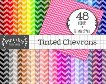 Chevron Digital Scrapbooking Papers, INSTANT Download, Chevron Digital Paper Pack, Backgrounds, Zig Zag Printable Paper, Commer