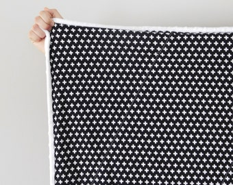 Audrey Modern Black and White  Quilt, Baby Quilt, Baby Quilt, Modern Quilt, Modern Baby Quilt