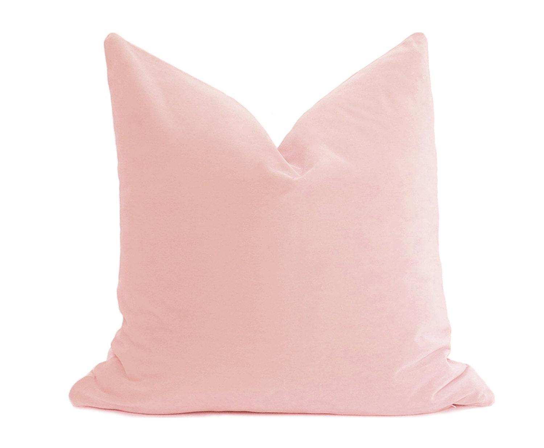 Blush Rose Throw Pillows : Blush Velvet Pillow Cover Belgium Velvet Blush Pillow