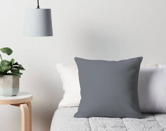 Gray Pillow, Gray Throw Pillow, Gray Decorative Pillow, Gray Toss Pillow, Gray Decor, Gray Bedding, Gray Pillow Case, Gray Bedroom, Gray