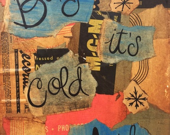 Baby It's Cold Outside - Record Sleeve Collage