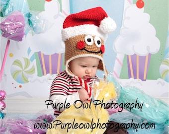 Crochet Pattern 037 - Santa Gingerbread Hat - All Sizes