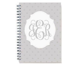 Personalized 2018 2 year weekly planner with monogram, 2018-2019 Custom planner, Start any month, 24 month calendar, book, SKU: 2yrW dot m