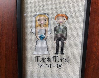 Cross-stitched couple