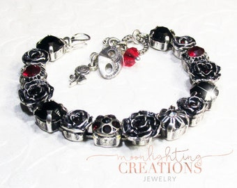 Phantom of the Opera, Point of No Return, Swarovski, Antique Silver Bracelet
