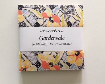 MAJOR SALE. Gardenvale 5 ins Charm Pack by Jen Kingwell for Moda