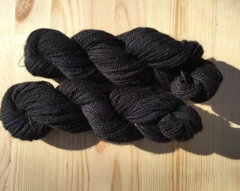 Midnight Colorway: Hand Dyed Alpaca and Highland Wool, 50g/247yds