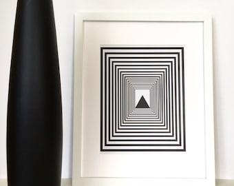 Geometric Art, Contemporary Art, Black Minimalist, Geometric Wall Art, Black and White Art, Geometric Print, Modern Art, Scandinavian Print