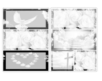"""A5 deco stickers """"Funeral or Memorial day"""""""