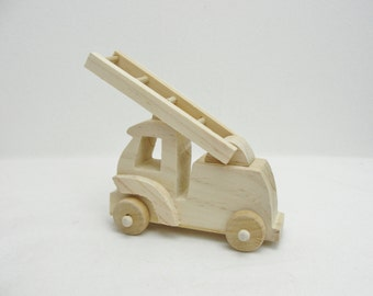 Small wooden fire truck DIY paint your own