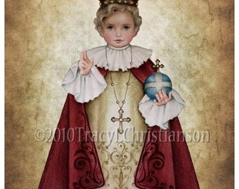 The Infant of Prague, Child Jesus 8x10 Print, Our Lord, the Christ Child #4025