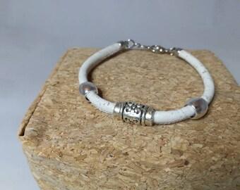 White or blue Cork bracelet