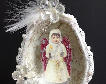 Angel Ornament Victorian Egg Christmas Decoration SALE PRICE