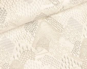 Cotton double Gauze Miriam Landscape Rauchblau (15.50 EUR/meter)