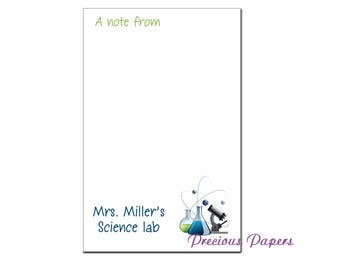 Personalized Science Teacher note pads Personalized teacher appreciation gifts teacher note pads science teacher notepad