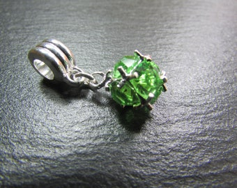 1 silver plated and Crystal bead