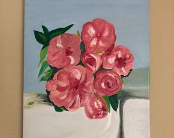 "Roses Oil Painting 11""x14"""