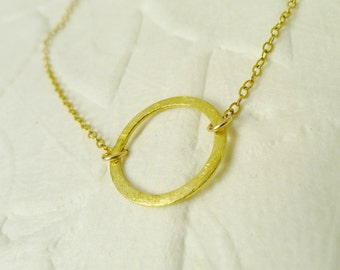 Small Eternity Gold Necklace
