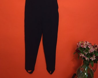 Pleated stretchy stirrup pants S