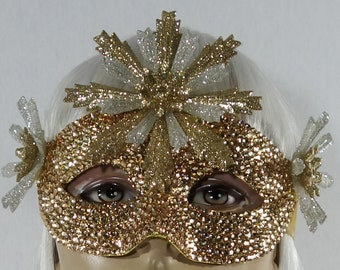 Champagne On Ice Masquerade Mask