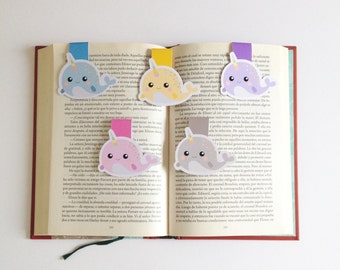 Narwhals Magnetic Bookmarks