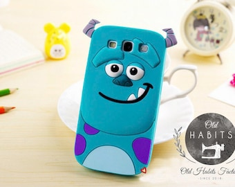 Sulley Monsters 3D Case for Samsung Galaxy S5 S6 S7 edge S8 Plus Grand Prime A3 A5 J1 J3 J5 J7 2016 2017 Plus Cover