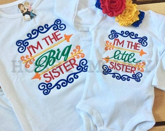 Personalized I'm the Little Sister Scrolls Shirt