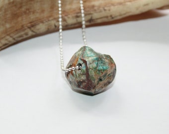 Necklace silver, 925 silver ball necklace, neck jewellery, natural stone, rhyolite Nugget,