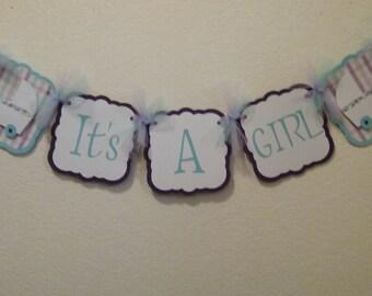 It's A Girl banner-baby girl banner-baby shower girl